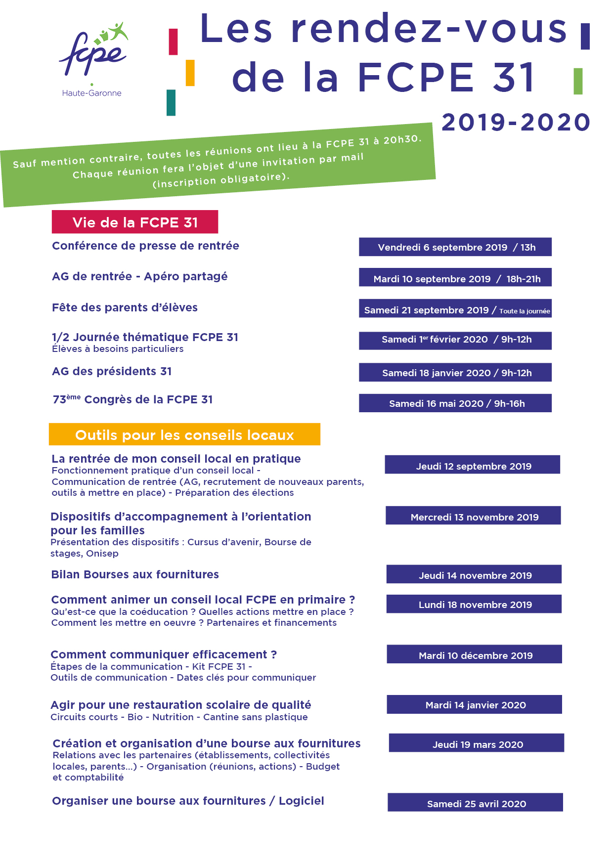 Formations FCPE 31